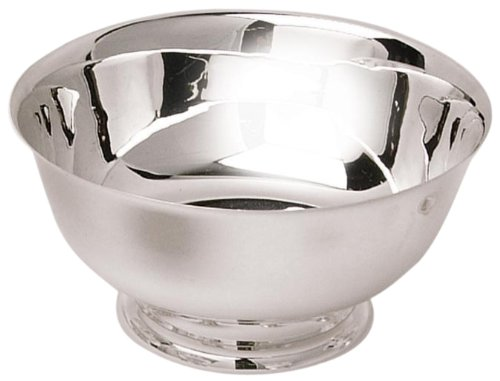 Eastern Tabletop 7004 4-Inch Stainless Steel Classic Paul Revere Bowls, 8-Ounce
