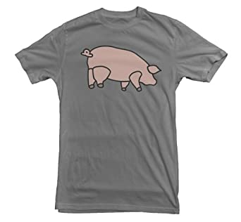 Pink Floyd T-shirt Animals Inflatable Pig Battersea Power Station (Small, Grey)
