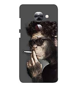 EPICCASE Smoking monkey swag Mobile Back Case Cover For LeEco Le Max2 (Designer Case)