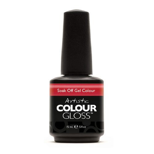 Artistic Nail Design Soak Off Colour Gloss Gel Hot Red Cherry Polish 3058 Hotzy