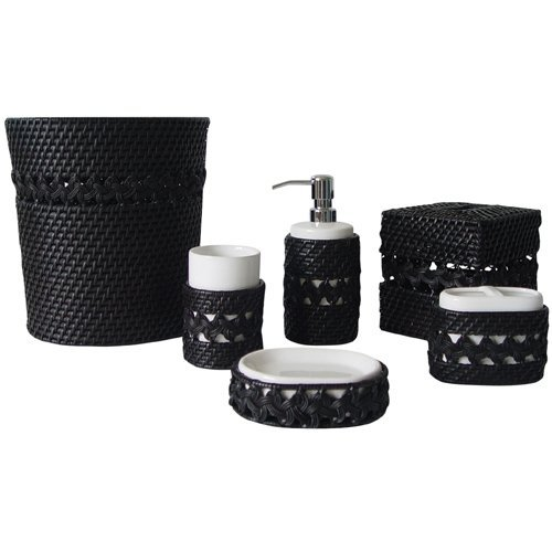 Elegant Home Fashions 6-Piece Jill Bathroom Accessory Set