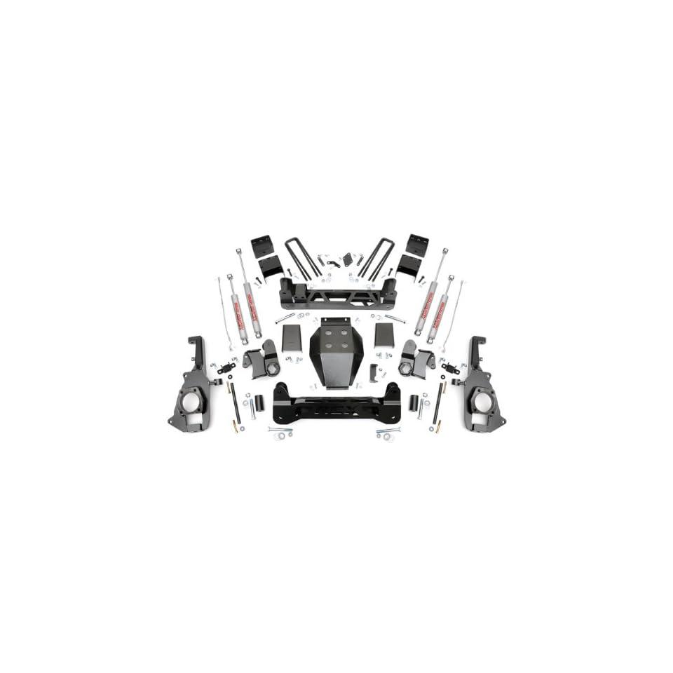 Rough Country 253X   7.5 inch Non Torsion Drop Suspension Lift Kit with Premium N2.0 Series Shocks Automotive