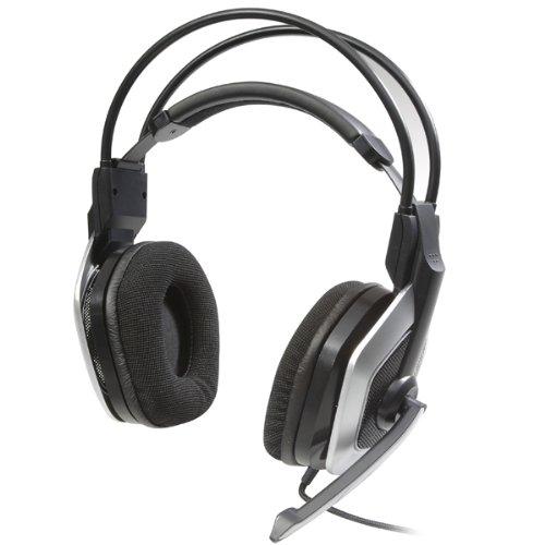 bazoo Neto Stereo Kopfhörer USB mit Kabelfernbedienung, schwarz / silber