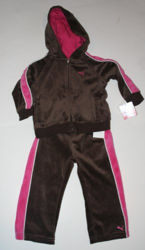 Puma Toddler Girl's 2 Piece Sweatsuit Size: 5T Seal Brown