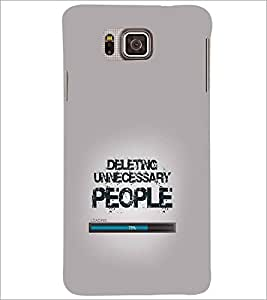 SAMSUNG GALAXY ALPHA TEXT Designer Back Cover Case By PRINTSWAG