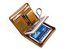 Deluxe Padfolio Organizer with Wrist Strap, for Samsung GalaxyTabS29.7and a Notebook