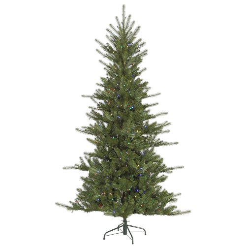 6.5' Slim Colorado Spruce Artificial Christmas Tree - Multi Colorled Lights