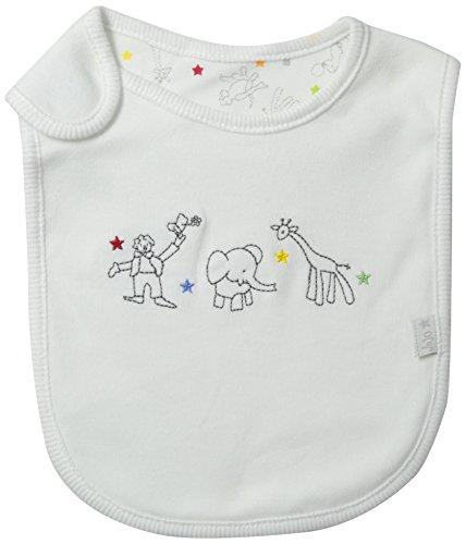 JoJo Maman Bebe Unisex-Baby Newborn Reversible Circus Bib White - 1