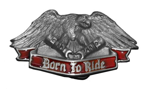 BORN TO RIDE Belt Buckle Eagle Rogue Biker Felon