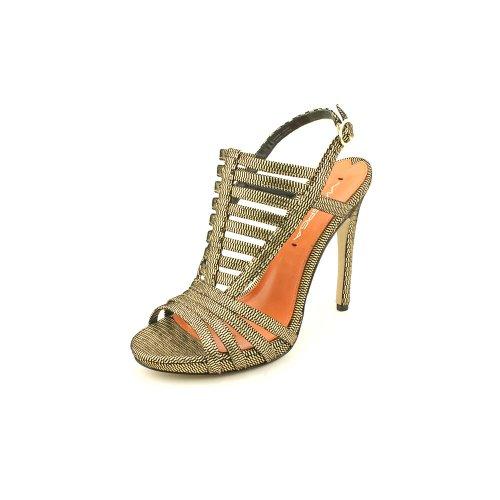 Via Spiga Norine Damen Gold Leder Kleid Sandalen Schuhe Gre Neu EU 38