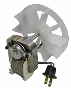 Broan Replacement Vent Fan Motor and blower wheel # 97012041, 50 CFM, .9 amps; 120 Volts