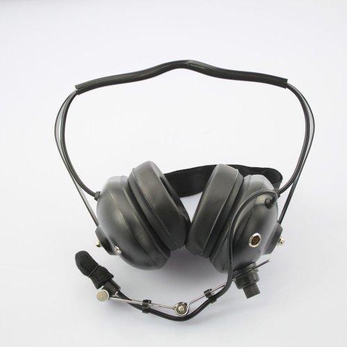 Universal Walkie Talkie Headset For Radio Transmitter Black (Black)