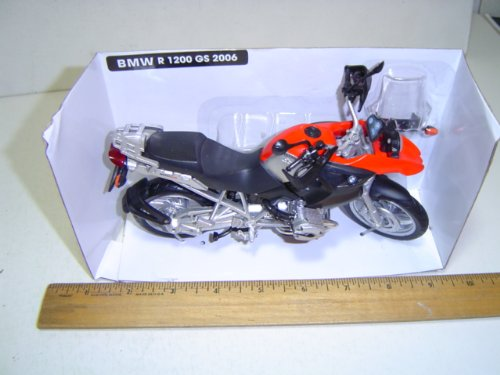 BMW Motorcycle R1200 GS 2006 Black/Red 1:12