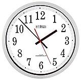 HTAWI HAA-1600S 16 Inch Silver Analog Atomic Wall Clock