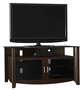 Bush furniture aero collection tv stand home entertainment centers Home theater furniture amazon