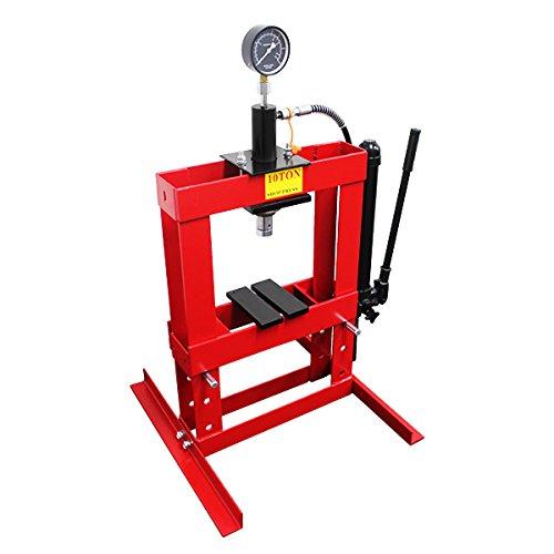 10トン 油圧プレス メーター付 門型プレス機 10ton 赤