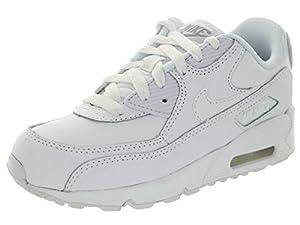Nike Air Max 90 (PS) White/Wolf Grey Running Shoe 10.5 Kids US