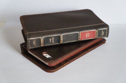 Best Price CHAPTER XVI THE BOOK for iPhone 5 / 5S - Genuine Vintage Leather iPhone 5S Case with Wallet (Vintage Brown)