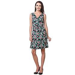 Flower Print A-Line Dress Dress