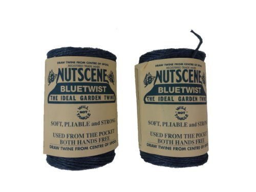 Bosmere K807B 2-Pack Nutscene Colored 3-Ply Twine, 394-Feet per Spool, Blue