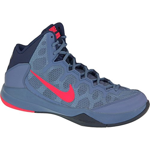 NikeZoom Without A Doubt - Scarpe da Basket Uomo , Multicolore (Multicolore - Azul / Rojo / Gris (Ocn Fg / Brght Crmsn-Mid Nvy-Obs)), 44