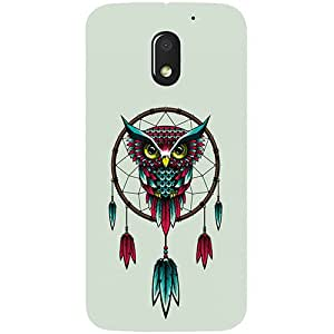 Casotec Owl Bird Dream Catcher Pattern Design 3D Printed Hard Back Case Cover for Motorola Moto E 3rd Generation