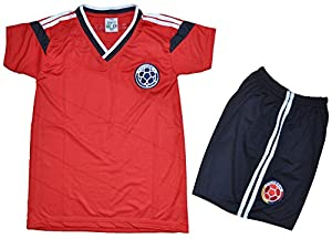 Buy 2014 Colombia Away Soccer Kids Set Size 2-4-8 by PerUsasports