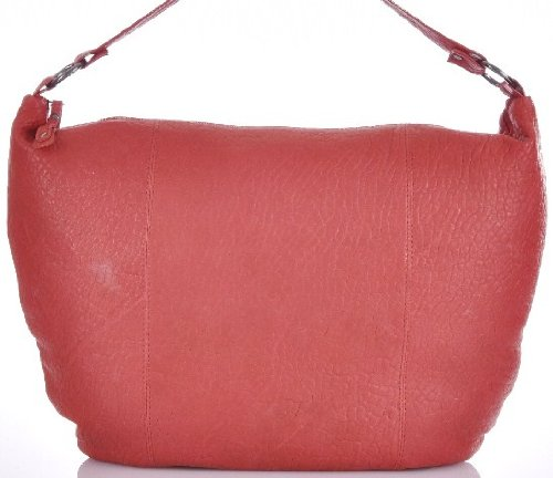 CONTEMPO XL-Hobo-Bag Trend Soft Schafleder Rot 50x40 cm (BxH)