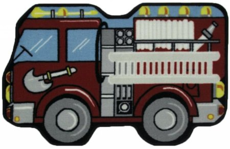 "Fun Rugs Fun Time Shape Fire Engine Home Decorative Accent Area Rug 31""X47"""