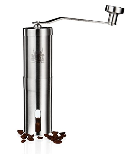 Hunt-Brothers-Coffee-Grinder-Best-Conical-Burr-for-Precision-Brewing-Consistent-Grind-Award-Winning-Coffee-Mill-Aeropress-Compatible-Perfect-for-Traveling