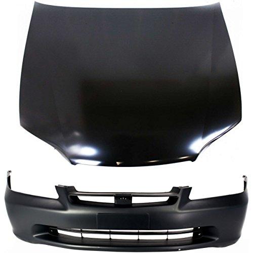 Diften 114-C0504-X01 - New Auto Body Repair Kit Front Honda Accord 1998-2000 (Honda Accord Body Kit compare prices)