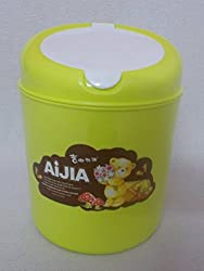Extremely cute and beautiful Waste Bin / dust bin / Trash Can / Garbage Bin for kids. Keep it on your kids study table.�Made of Durable High Quality plastic and very attractive and adorable. Color - As per availability. Used for kids, offices, home, Kitchen, other households, Dressing Table, Office Desk, restaurants, Hotels etc.