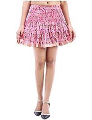 Sunshine Enterprises Women's Cotton Wrap Skirt (Pink) - B01HELPRDM