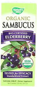 Nature's Way Organic Sambucus Elderberry Syrup, 4 Fluid Ounce