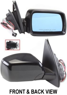 Kool Vue BM34ER Mirror Corner mount Type Passenger Side RH Plastic Power Manual folding Heated With memory feature (2001 Bmw X5 Side Mirror compare prices)