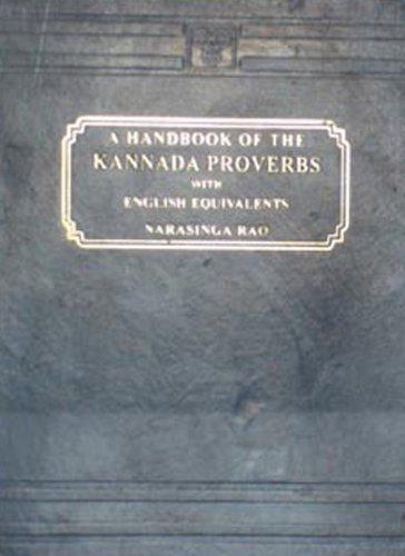 A Handbook of Kannada Proverbs (with English Equivalents) PDF