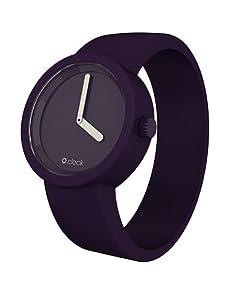 O clock Unisex-Armbanduhr TONE ON TONE Violett Analog Silikon 32 mm CLOCK TTL_PO