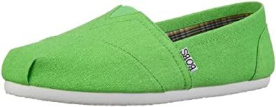 BOBS from Skechers  Zing Flat,Lime,7.5 M US