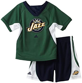 NBA Utah Jazz Raglan Crew & Short Set - R24Ezyja Toddler by adidas