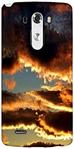 Snoogg Evening Clouds In Sky Background Designer Protective Back Case Cover For LG G3