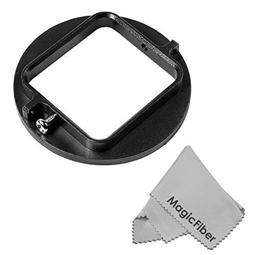 52Mm Filter Adapter For Gopro Hero3+ Black Silver & White Edition Action Cameras - Includes: Housing Filter Adapter + Magicfiber Microfiber Cleaning Cloth