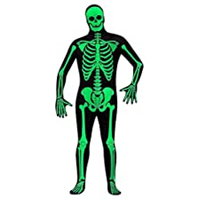 Glow Skeleton Full Body Suit - Adult Small