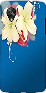 Snoogg Two Beautiful Flowers Background Designer Protective Back Case Cover F...
