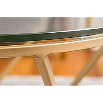 New Geometric Glass Nesting Coffee Tables in Gold