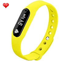 Witmood C6 Smart Bracelet Heart Rate Monitor Smartband Sport Pedometer Wristband Watch Fitness Tracker For IPhone... - B01FXMU8G0