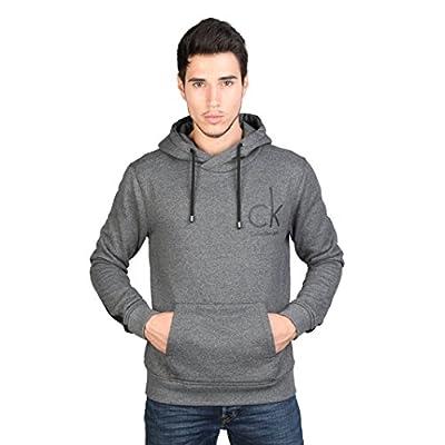 Calvin Klein Mens Hannes Long Sleeve Stripe Design Hoodie