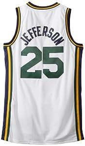 NBA Utah Jazz White Swingman Jersey Al Jefferson #25 Jazz by adidas