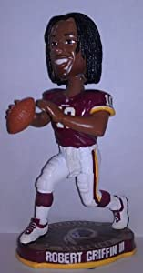 NFL Washington Redskins Griffin III R. #10 2012 Road Football Base Bobble by Forever Collectibles