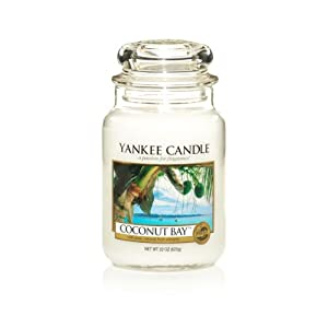 Yankee Candle 22-Ounce Jar Scented Candle, Large, Coconut Bay