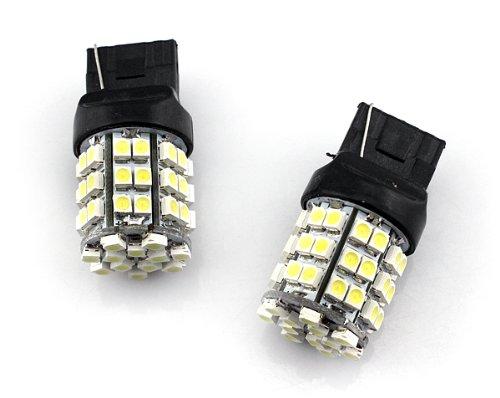 2Pcs Led Bulbs 54-Smd White Reverse Backup Light T20 7440 7443 7444(Shipments From Usa)